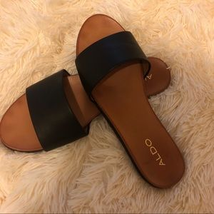 5c23b7a256af Aldo Shoes - Aldo leather slide sandals